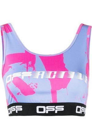 OFF-WHITE Logo-print sports bra