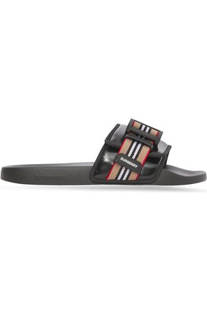 Burberry Homem Chinelos - Icon Stripe buckled slides