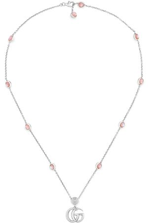 Gucci Homem Colares - Double G mother of pearl necklace