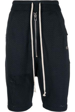 Rick Owens Senhora Calções - Drawstring track shorts