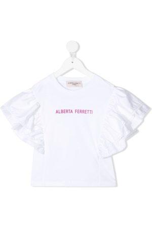 Alberta Ferretti Kids Menina T-shirts & Manga Curta - Logo-print cotton T-shirt