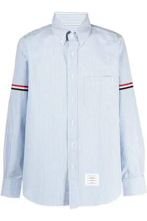Thom Browne Vertical-stripe long-sleeve shirt