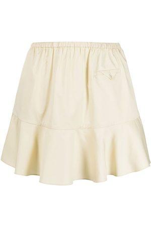 Self-Portrait Senhora Mini-saias - Peplum-hem mini skirt