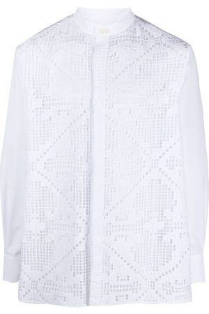 VALENTINO Pointelle-knit cotton shirt