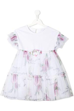 Monnalisa Menina Vestidos Casual - Floral-print mini dress