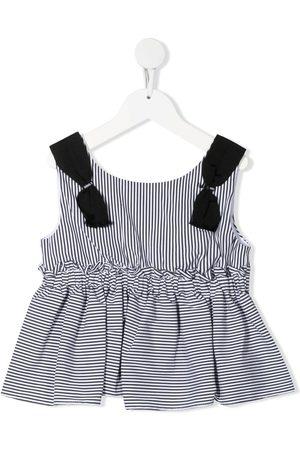 MONNALISA Striped pleated vest