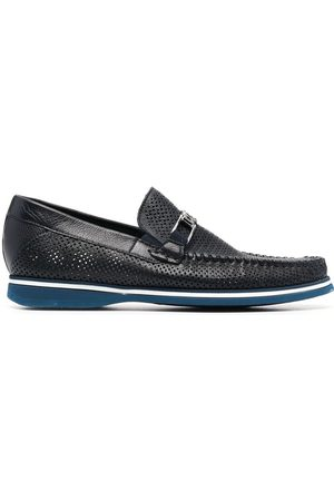 BALDININI Homem Oxford & Moccassins - Perforated-detail leather loafers