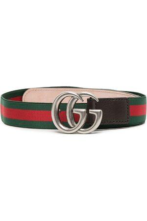 Gucci Kids GG leather-trim belt