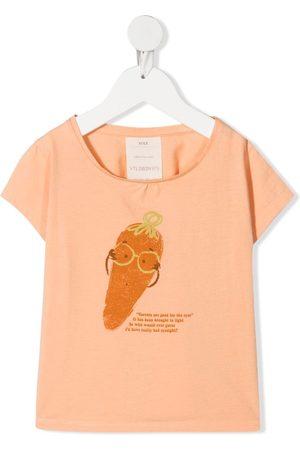KNOT Menina T-shirts & Manga Curta - Mrs Carrot-print T-shirt