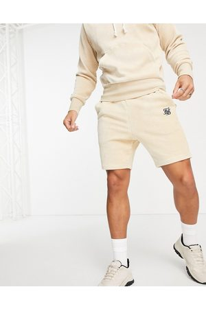 SikSilk Allure corduory shorts in beige-Neutral
