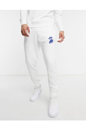 Nike Homem Joggers - World Tour Pack graphic cuffed joggers in white