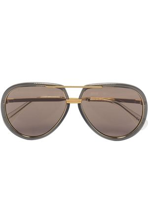Gucci Eyewear Logo-engraved aviator-frame sunglasses