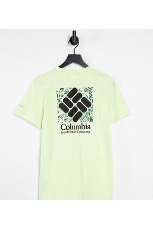 Columbia Rapid Ridge Back Graphic t-shirt in lime green Exclusive at ASOS