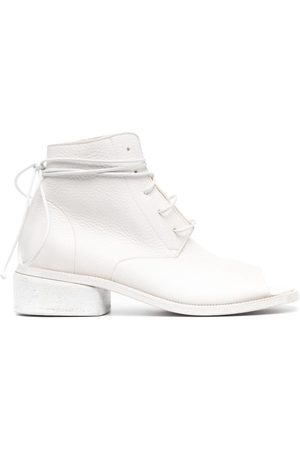 MARSÈLL Open-toe leather ankle boots