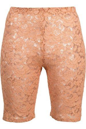 Stella McCartney Floral-lace cycling shorts