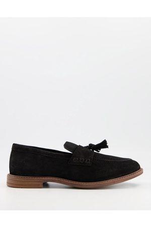 Silver Street Homem Oxford & Moccassins - Suede tassel loafers in black