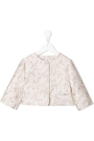 LA STUPENDERIA Luce floral jacquard jacket