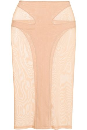 Dion Lee Powertulle-panelled skirt