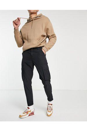 New Look Homem Calças Cargo - Ripstop cargos in black
