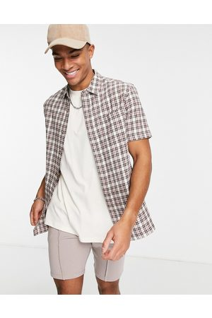 Topman Pink check shirt