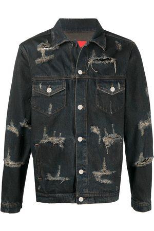 424 Homem Casacos - Trucker distressed denim jacket