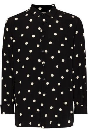 Saint Laurent Polka dot-print shirt
