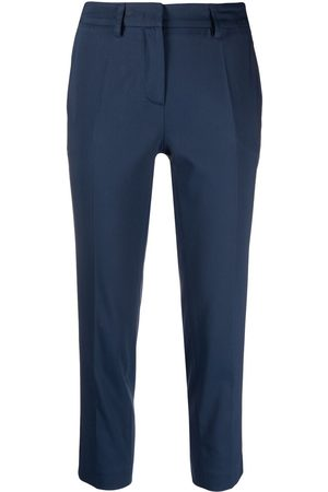 BLANCA Cropped slim-cut trousers