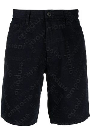 Emporio Armani Monogram denim shorts