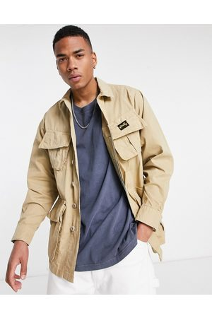 Stan Ray Jacket with pocket detail in khaki-Brown