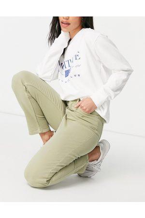 GANT High rise slim cropped jeans in safari green