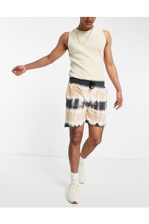 Another Influence Tie dye jersey shorts co-ord in stone-Neutral