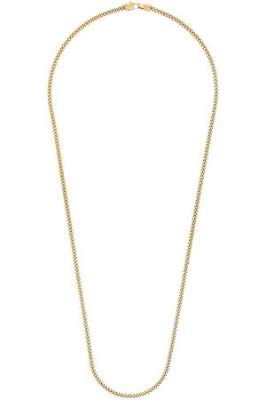 TOM WOOD Plated Curb L chain necklace