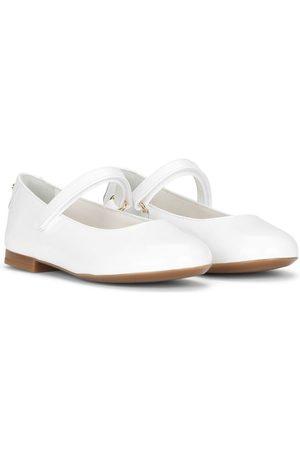 Dolce & Gabbana Menina Sabrinas - Round-toe ballerina shoes
