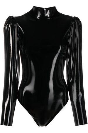 Alchemy Senhora Bodies interiores - Lia faux-leather bodysuit