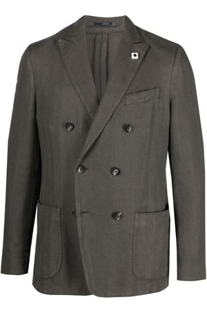 LARDINI Homem Blazers - Fitted double-breasted jacket