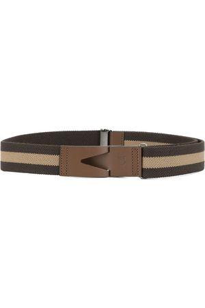 Tod's Homem Cintos - Greca striped belt