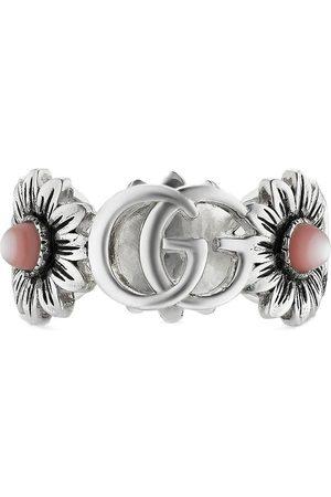 Gucci Homem Anéis - Double G flower ring