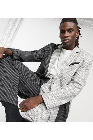 Reclaimed Vintage Inspired check and stripe blazer-Multi