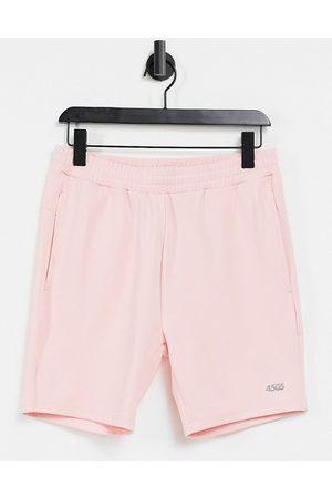 ASOS 4505 Homem Calções desportivos - Icon skinny training shorts with quick dry-Pink