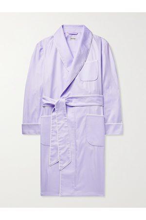 Paul Stuart Homem Roupões de Banho - Piped Herringbone Cotton Robe