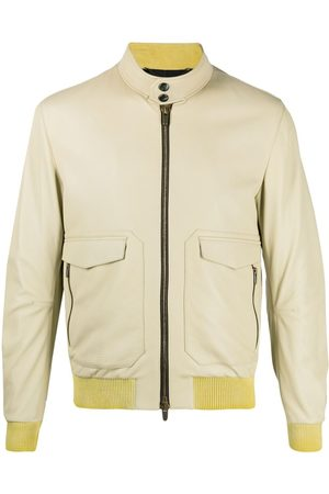 Ajmone Leather bomber jacket