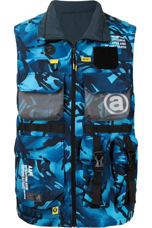 AAPE BY A BATHING APE Camouflage-print zip-up gilet