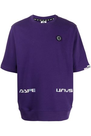AAPE BY *A BATHING APE® Logo-patch T-shirt
