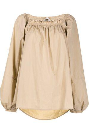 GOEN.J Off-shoulder puff-sleeve blouse
