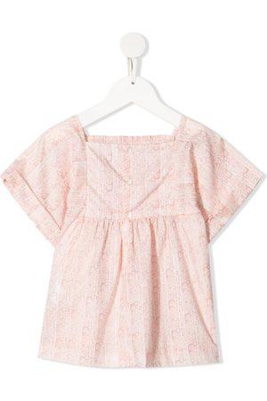 BONPOINT Menina Blusas - Smocked floral-print blouse