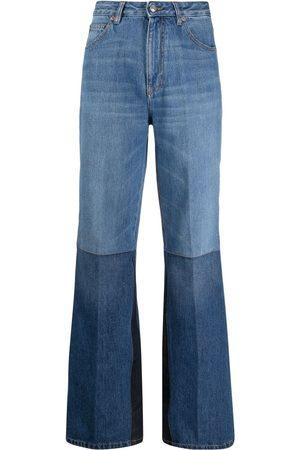 Victoria Beckham Senhora Bootcut & Boca-de-sino - Two-tone flared jeans