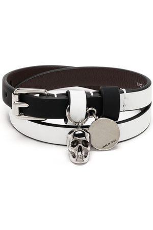 Alexander McQueen Homem Pulseiras - Wraparound skull bracelet