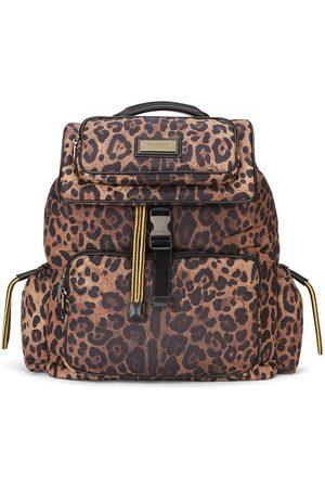 Dolce & Gabbana Homem Mochilas - Leopard-print backpack