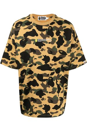 A BATHING APE® Camouflage-print short-sleeved T-shirt