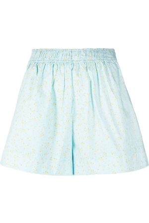 Ganni Floral print lightweight shorts